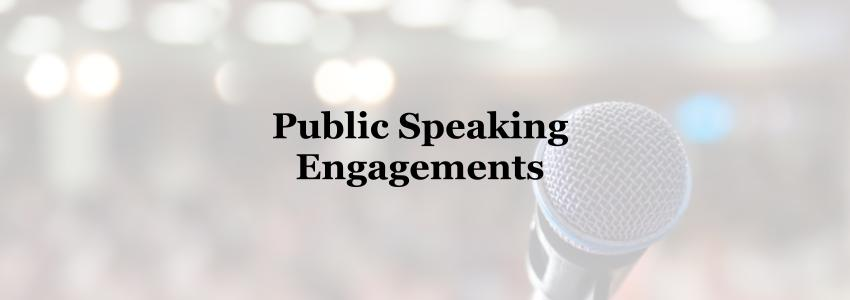 public speaking engagements